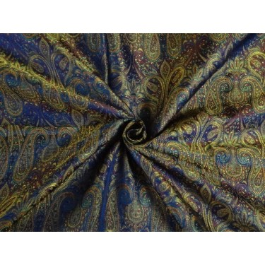 "JAMAWAR SILK BROCADE FABRIC Multi Color 44""BRO293[2] SINGLE LENGTH 2.30 YDS"