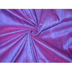 PURE SILK Dupioni FABRIC PURPLE WITH PINK SHOT STUNNING NEW COLLECTION