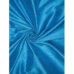 PURE SILK Dupioni FABRIC Indian Blue STUNNING NEW COLLECTION