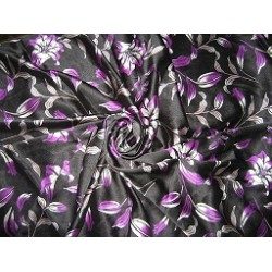 Floral Printed Polyester Satin fabric