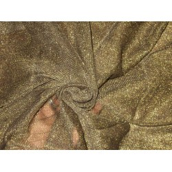 Dull Gold net with Metallic Shimmer fabric