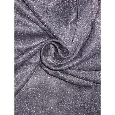 Black net with Silver Metallic Shimmer fabric