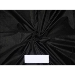 "Mary Ann"" Plain Silk 44"" Jet Black 50 GRAMS SILKS sold by the yard"