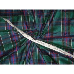 "Scottish Tartan Check ~ Silk Dupioni Fabric~Width 54 ""PKT#C13 sold by the yard"