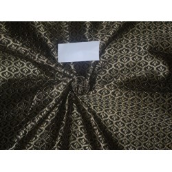 """Brocade Fabric Black x Gold Color 48""""by the yard Bro526[1]"""