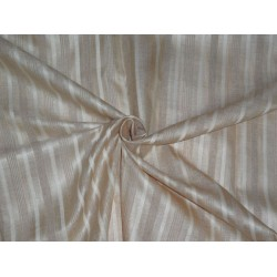 TUSSAR SILK FABRIC WITH SILK STRIPES 44""