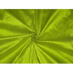 "100% PURE SILK DUPIONI FABRIC PISTACHIO GREEN 54""WITH SLUBS*"