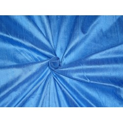 "100% PURE SILK DUPIONI FABRIC PASTEL INDIGO 54""WITH SLUBS*"