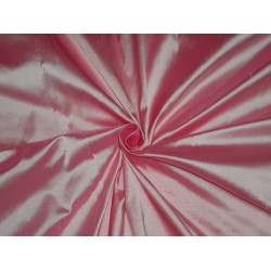"100% PURE SILK DUPIONI FABRIC CANDY PINK 54""DUP203[1] by the yard"