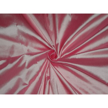"""100% PURE SILK DUPIONI FABRIC CANDY PINK 54""""DUP203[1] by the yard"""