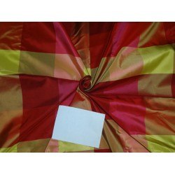 "100% PURE SILK TAFFETA FABRIC MULTI COLOR PLAIDS 54""wide  sold by the yard"