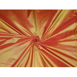 "SILK TAFFETA FABRIC FIREFLY COLOR 54"" wide sold by the yard"