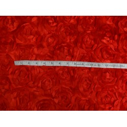 "POLYESTER SATIN FABRIC 44"" RED COLOR"