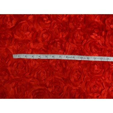 """POLYESTER SATIN FABRIC 44"""" RED COLOR"""