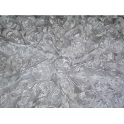 "POLYESTER SATIN FABRIC 44"" LIGHT IVORY COLOR"
