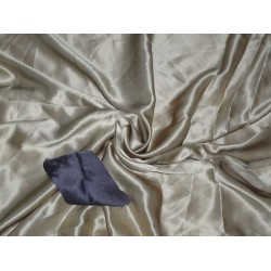 """100% PURE SILK SATIN FABRIC 54"""" SAND GOLD COLOR 120 GRAMS"""
