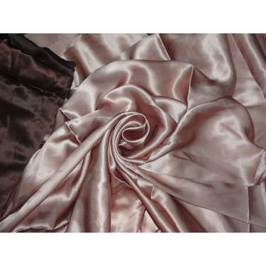 """100% PURE SILK SATIN FABRIC 54"""" DUSTY ROSE COLOR 95 GRAMS"""