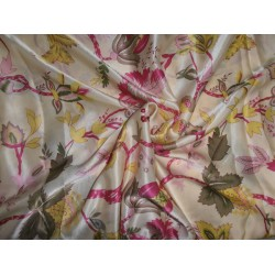 "JAPANESE SATIN PRINTED FABRIC 44""~ FLORAL"