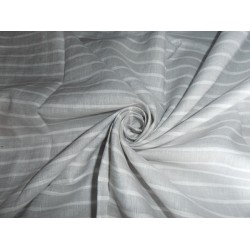 """LINEN FABRIC WITH GREY,SILVER,WHITE STRIPES 54"""" CUT LENGTH OF6.80 YARDS"""