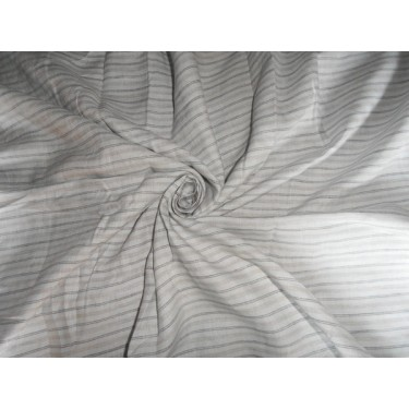 """LINEN FABRIC WITH GREY,SILVER,BLUE STRIPES 60"""""""