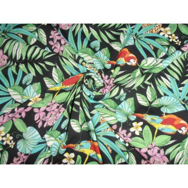 """POLY CREPE SUMMER COOL FABRIC JUNGLE PRINT 44"""""""