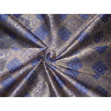 BROCADE FABRIC purple and metallic copper color BRO548[2]