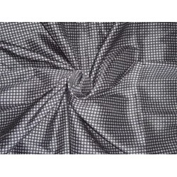 printed tafetta silk single length of 3.30 yds black and white 35momme