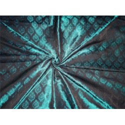 silk brocade teal green and black BRO534[4]