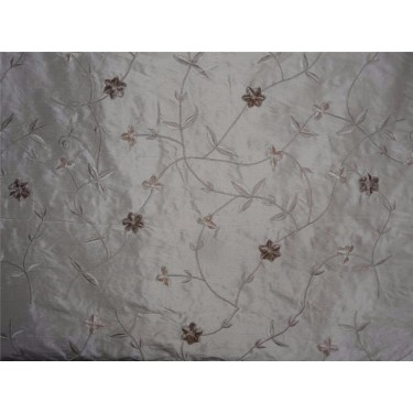 """100% dupioni silk embroidery fawn color 54""""DUPE21[3]"""