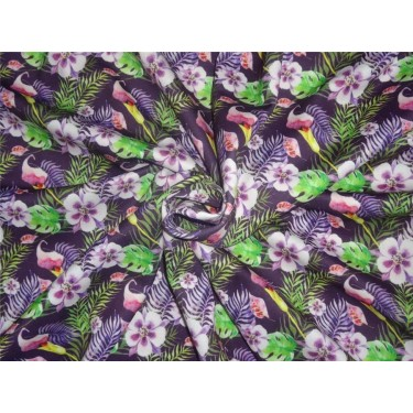 "dark tiny floral print Scuba Knit fabric 59"" wide- for fashion wear B2SCUBA83[2]"