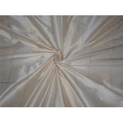 100% dupion silk cream and champagne stripe DUPS51