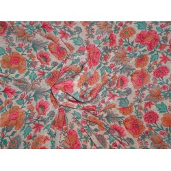 pure silk CDC crepe printed fabric 16 mm weight b2#101[nv]2