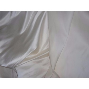 100% silk ivory color dutchess satin backed with organza silk