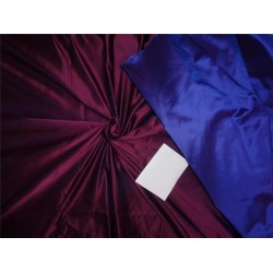 100% silk plum x blue Heavy-Weight 48 MOMME Dutchess SATIN B2#30A[6]