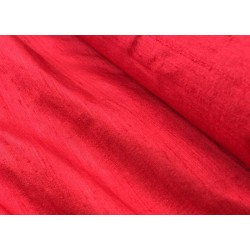 "100% PURE SILK DUPIONI FABRIC BLOOD RED 54"" WITH SLUBS* MM3A[3]"