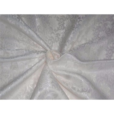 "silk brocade fabric WHITE 44"" BRO535[1]"