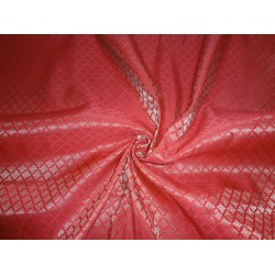 "Brocade Fabric Red x mettalic Gold Color 44""BRO552[3]"