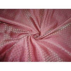 "Brocade Fabric rouge pink x Gold Color 44""BRO552[2]"