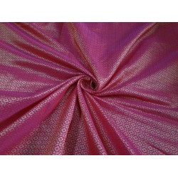 "Brocade Bright pink x metallic Gold Color 44""BRO554[6]"