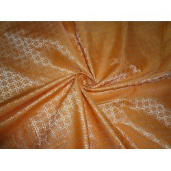 "Brocade Bright orange x metallic Gold Color 44""BRO554[3]"