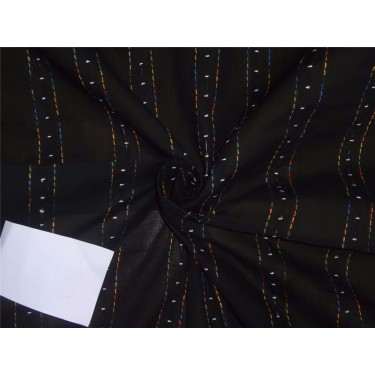 """COTTON VOILE FABRIC~EMBROIDERY-black color-44"""""""
