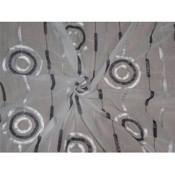 """cotton voile fabric~white with embroidery-uncut length 5 yards-44""""@ 62$"""