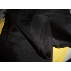 "Black colour plain habotai silk 54""*"