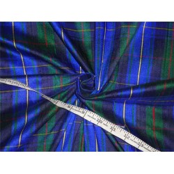"Scottish Tartan Check ~ Silk Dupioni Fabric Width 54""DUPC11 sold by the yard"