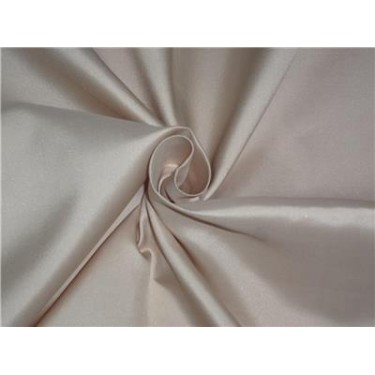 "100% Silk Taffeta Fabric Golden Cream Color 60"" wide sold by the yard"