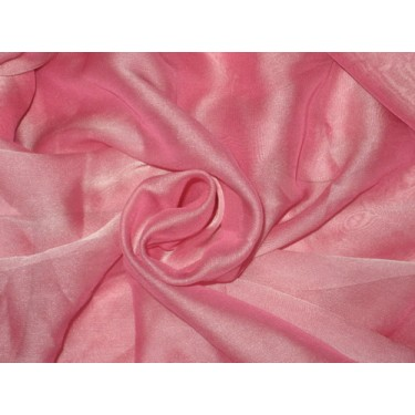 """POLYESTER GEORGETTE FABRIC Pink color 44"""""""