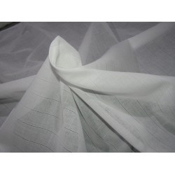"""100% 2/100's x 2/100's  pure cotton voile plaids 58"""" wide-white by the yard"""