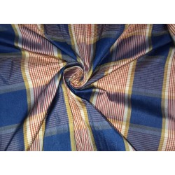 """100% silk dupion  fabric red blue plaids DUPNEWC7[5] 54"""" wide sold by the yard"""