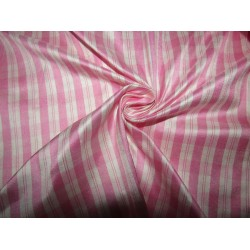 """100% silk dupion  fabric  pink white  PLAIDS  DUPNEWC6[3] 54"""" wide sold by the yard"""