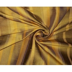 """100% silk dupion  fabric yellow gold stripes DUPNEWS5[3] 54"""" wide sold by the yard"""